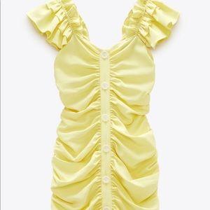 Zara drapes mini dress
